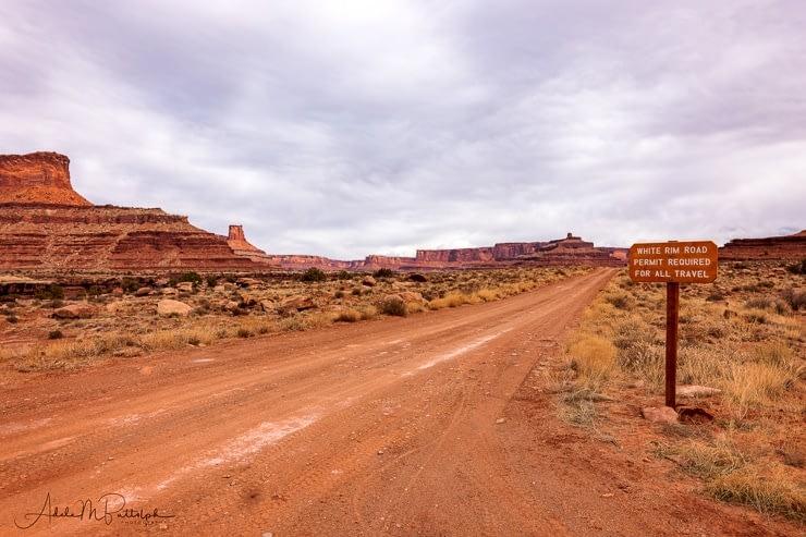 Sign at beginning of White Rim Road