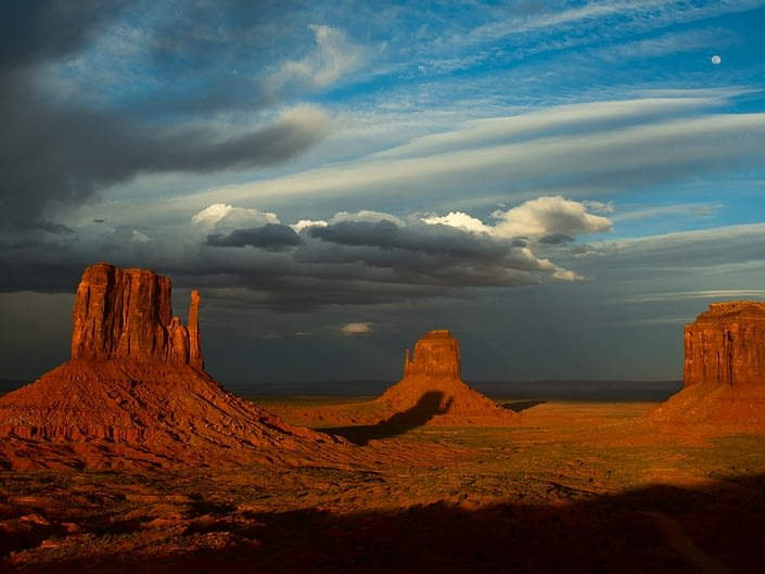 Sunset at The Mittens, Monument Valley Navajo Tribal Park, Utah