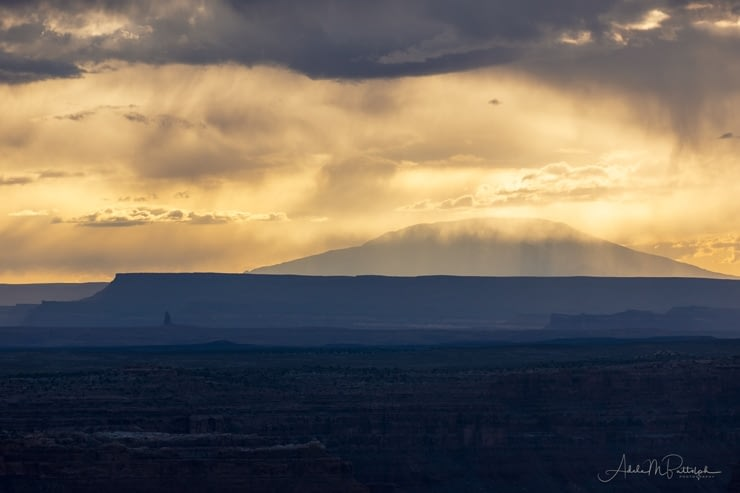 Navajo Mountain from Muley Point at sunset