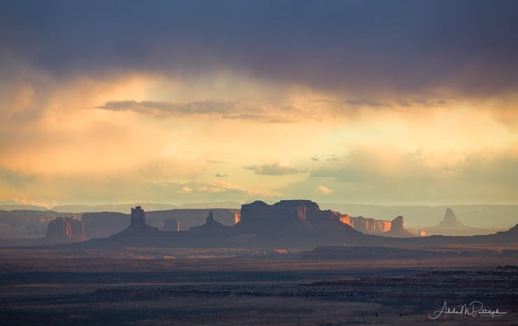 Monument Valley at sunset shot from Muley Point, Utah