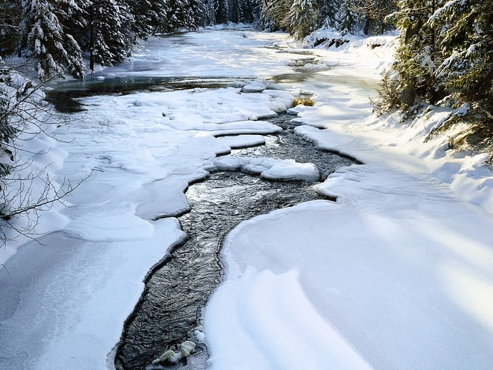 Winter on Lostine River, near Lostine, Wallowa County, Oregon. © Adele M. Buttolph, © Adele Buttolph. adelembuttolphgallery, adelembuttolphphotogaphy