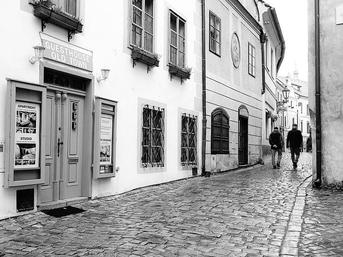 Street Cesky Krumlov Czech Republic