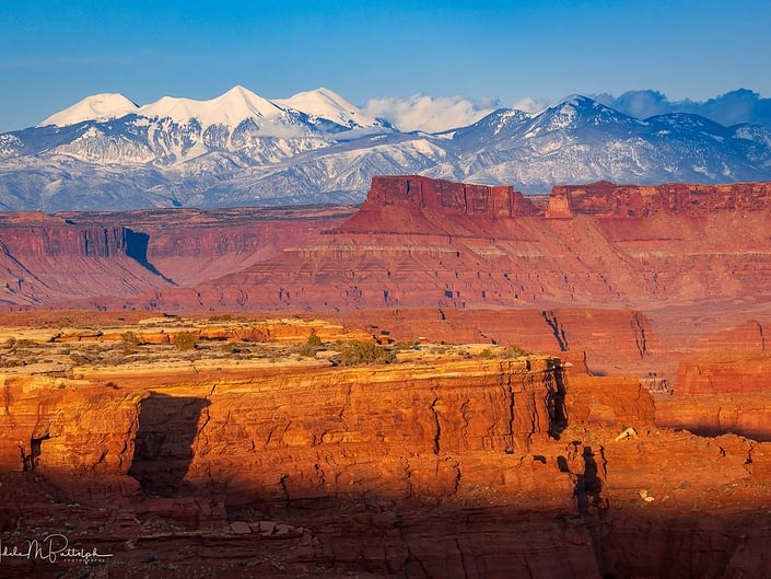 View from White Crack at Sunset. Canyonlands National Park, Utah